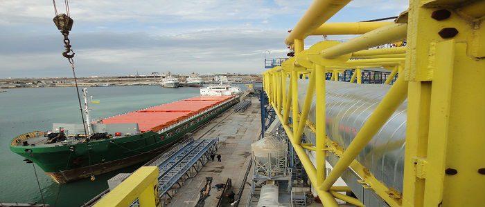 Vessel at the mooring, shipping agency, ship broker